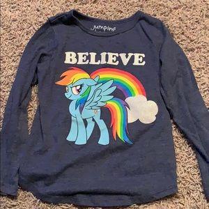 Jumping beans rainbow unicorn long sleeve shirt